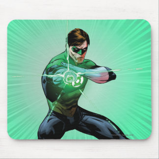 Green Lantern & Glowing Ring Mouse Pad
