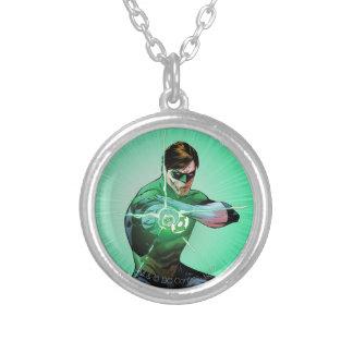 Green Lantern & Glowing Ring Round Pendant Necklace