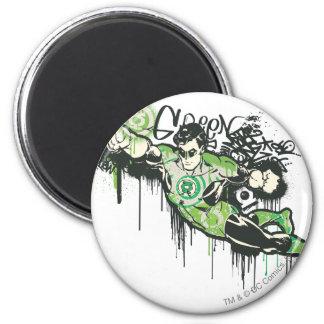 Green Lantern Graffiti Character 6 Cm Round Magnet