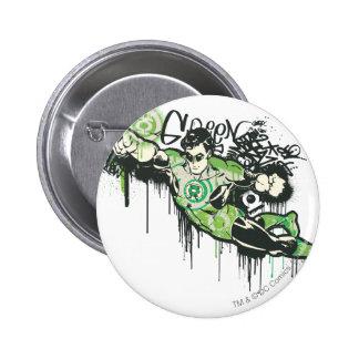 Green Lantern Graffiti Character 6 Cm Round Badge