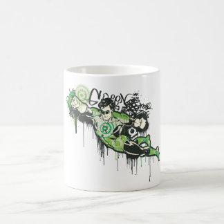 Green Lantern Graffiti Character Coffee Mug