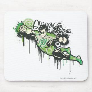 Green Lantern Graffiti Character Mouse Pad