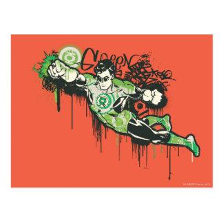 Green Lantern Graffiti Character Postcard