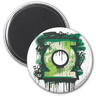 Green Lantern Graffiti Symbol 6 Cm Round Magnet