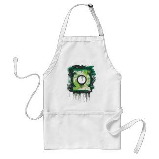 Green Lantern Graffiti Symbol Aprons