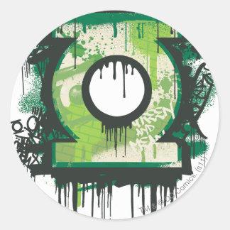 Green Lantern Graffiti Symbol Classic Round Sticker