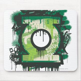 Green Lantern Graffiti Symbol Mouse Mat
