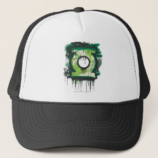 Green Lantern Graffiti Symbol Trucker Hat