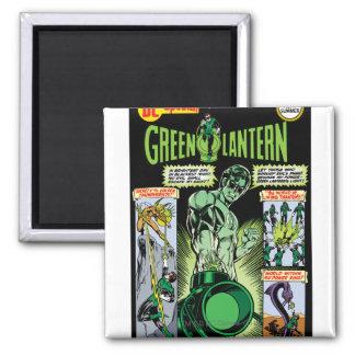 Green Lantern  - Green Shaded Comic Square Magnet
