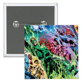 Green Lantern Group - Color 15 Cm Square Badge
