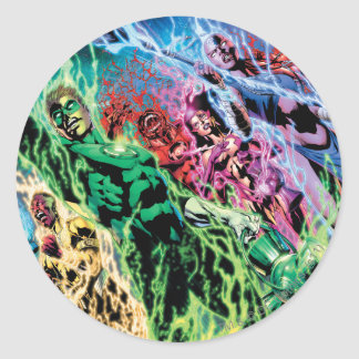 Green Lantern Group - Color Classic Round Sticker
