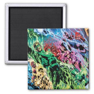 Green Lantern Group - Color Square Magnet