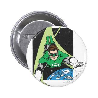 Green Lantern in Space 6 Cm Round Badge