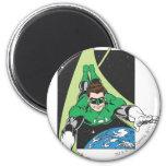 Green Lantern in Space 6 Cm Round Magnet