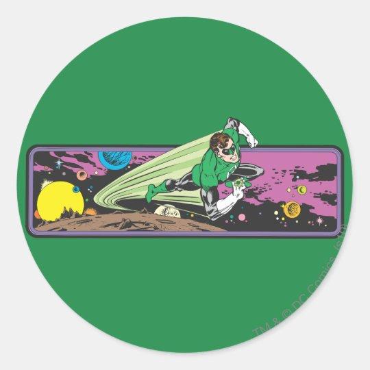 Green Lantern in Space Classic Round Sticker