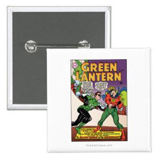 Green Lantern in the ring 15 Cm Square Badge