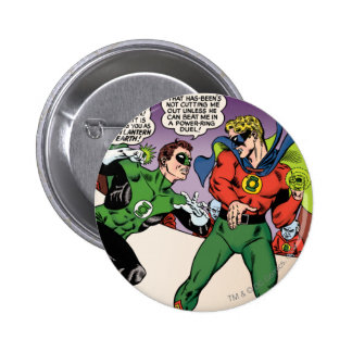 Green Lantern in the ring 6 Cm Round Badge