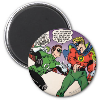 Green Lantern in the ring 6 Cm Round Magnet