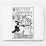 Green Lantern in the ring, Black and White Mouse Pad