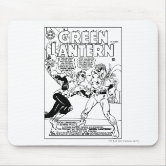 Green Lantern in the ring Black and White Mouse Pad