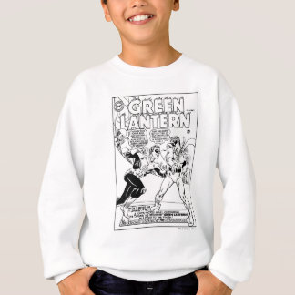 Green Lantern in the ring, Black and White Sweatshirt