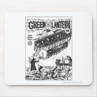Green Lantern in the trenches, Black and White Mouse Pad