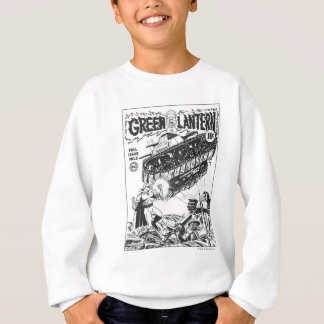 Green Lantern in the trenches, Black and White Sweatshirt