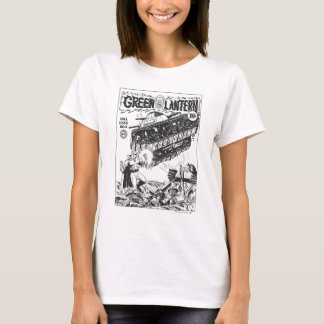 Green Lantern in the trenches, Black and White T-Shirt