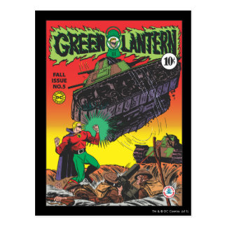 Green Lantern in the trenches Postcard