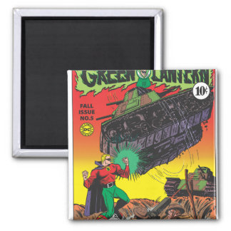 Green Lantern in the trenches Square Magnet