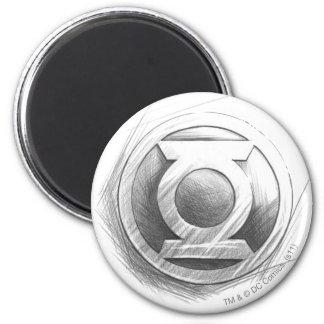 Green Lantern Insignia 6 Cm Round Magnet