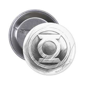 Green Lantern Insignia 6 Cm Round Badge