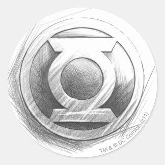 Green Lantern Insignia Classic Round Sticker