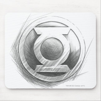 Green Lantern Insignia Mouse Mat