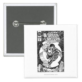 Green Lantern - It all begins here, Black and Whit 15 Cm Square Badge
