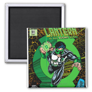 Green Lantern - It all begins here Square Magnet