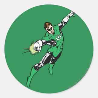 Green Lantern Jump Classic Round Sticker