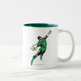 Green Lantern Jump Two-Tone Coffee Mug