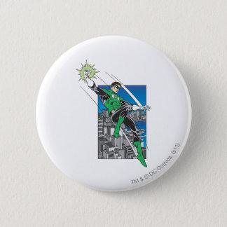 Green Lantern Lands in City 6 Cm Round Badge