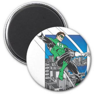 Green Lantern Lands in City 6 Cm Round Magnet