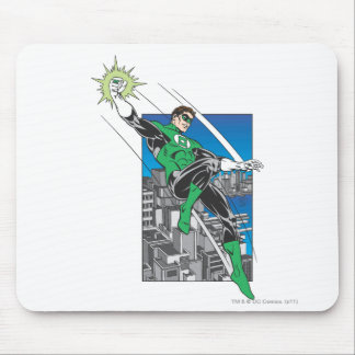 Green Lantern Lands in City Mousepads