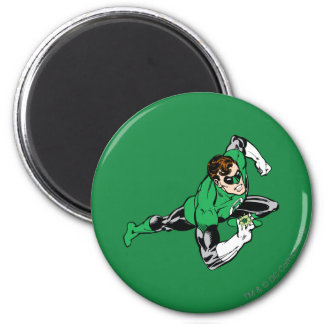 Green Lantern Leap Right 6 Cm Round Magnet