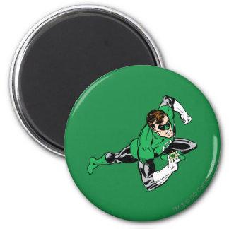 Green Lantern Leap Right 6 Cm Round Magnet