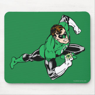 Green Lantern Leap Right Mouse Mat