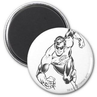 Green Lantern Leaps Forward 6 Cm Round Magnet