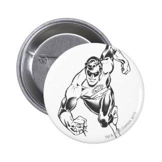 Green Lantern Leaps Forward 6 Cm Round Badge