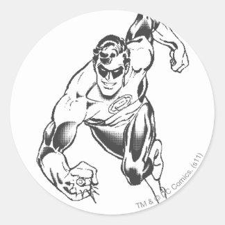 Green Lantern Leaps Forward Classic Round Sticker