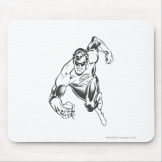 Green Lantern Leaps Forward Mouse Pad