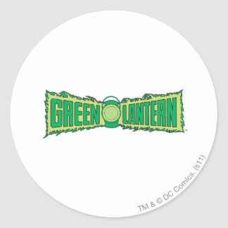 Green Lantern Letters 1 Classic Round Sticker