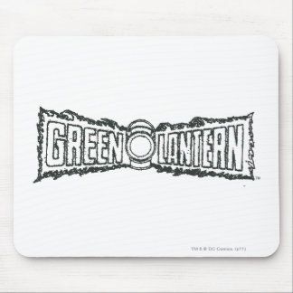 Green Lantern Letters BW Mouse Mat